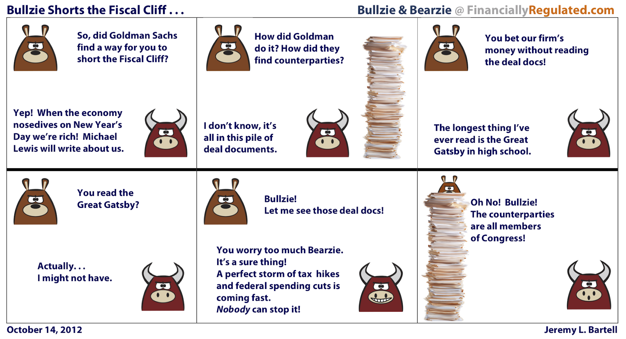 Bullzie Shorts the Fiscal Cliff